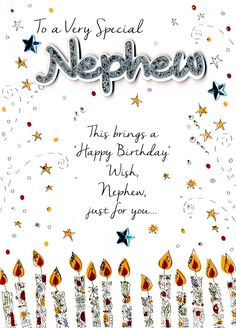 16 Design Happy Birthday Nephew Card Images Prince Louis is axis one! The youngest son of Prince William and Kate Middleton is adulatory his aboriginal altogether today, April and the aristocratic Birthday Greetings For Nephew, Birthday Message For Nephew, Happy Birthday Nephew Quotes, Happy Birthday Wishes For Him, Birthday Wishes Quotes, Happy Belated Birthday, Happy Birthday Greeting Card, Happy Birthday Images, Birthday Messages
