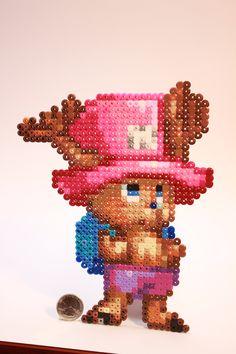 Perler Beads One Pice Tony Tony Chopper by kiskekokanut on deviantART