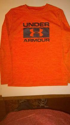 03e4c24ab2da Under armour Shirt Orange Youth Large Long Sleeve  fashion  clothing  shoes   accessories