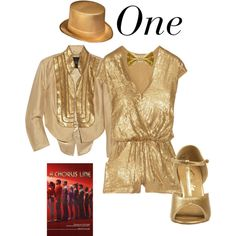 "Everyone needs a gold top hat and a gold romper ""A Chorus Line"" - One - Polyvore"