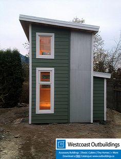 105 Sq/Ft Backyard Office Loft by Westcoast Outbuildings Inc. 105 Sq/Ft Backyard Office Loft by Westcoast Outbuildings Inc. Shed Office, Backyard Office, Backyard Studio, Backyard Sheds, Loft Office, Shed Cabin, Cabin Loft, Tiny House Cabin, Tiny House Plans