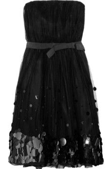 Moschino Cheap and Chic  Paillette-embellished silk and tulle dress