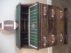 Custom football dresser  #Handmade #Custom