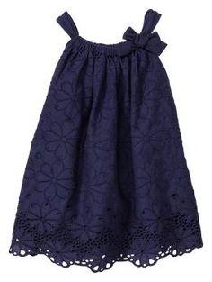 Eyelet bow dress