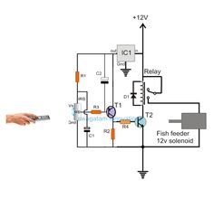 Remote Controlled Fish Feeder Circuit | Homemade Circuit Projects