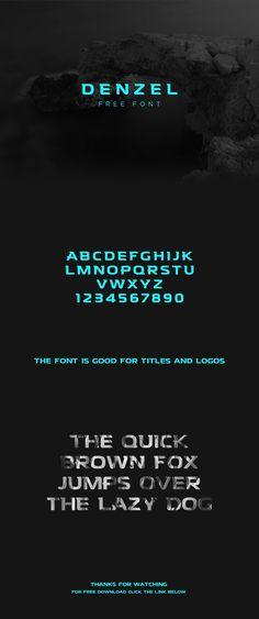 Denzel Font Free on Behance #free #font