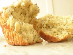 Great lemon-poppyseed muffin recipe - with sour cream, so they're extra moist!