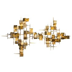 Mid-Century Modernist Brutalist Wall Sculpture in the Manner of Silas Seandel   From a unique collection of antique and modern wall-mounted sculptures at https://www.1stdibs.com/furniture/wall-decorations/wall-mounted-sculptures/