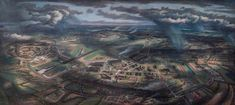 Artist in focus: Alan Sorrell Anglo Saxon History, British Schools, Tate Gallery, How To Make Drawing, Royal College Of Art, Art Uk, Mural Painting, Historical Sites, Old World