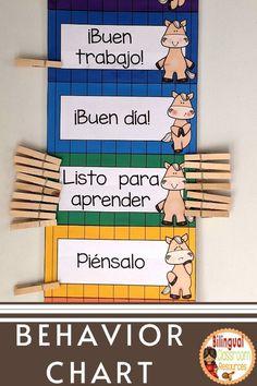 Dual Language Classroom, Bilingual Classroom, Bilingual Education, Classroom Resources, Classroom Themes, Teacher Resources, Behavior Management Strategies, Classroom Management Tips, Student Behavior