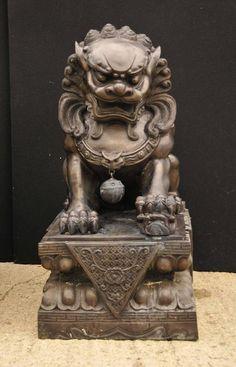 Par De La Extra Grande De Bronce Chino Foo Perros Fu Keiloon La Estatua Del  Templo, China 2