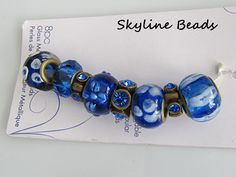 Mix and Mingle Bronze Metal Lined Beads  Sapphire by SkylineBeads, $4.95