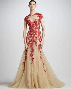 Elie Saab Dresses Nude Applique Short Sleeve Red Lace Tulle Evening Dresses With Open Back Elie Saab Dresses, Gala Dresses, Formal Dresses, Long Dresses, Dresses 2013, Pageant Dresses, Cheap Dresses, Dresses Online, Monique Lhuillier