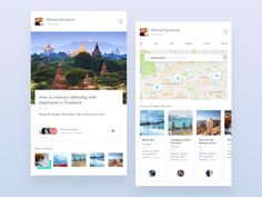 UX Process for a Hypothetical Travel Guide App by Faria
