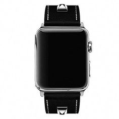 fe36fc75157 for Apple Watch Band 42mm Genuine Leather iwatch Strap Replacement Band  with Stainless Metal Clasp for