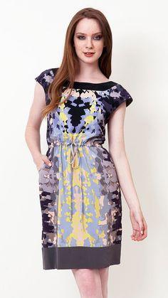 silk Rorschach dress