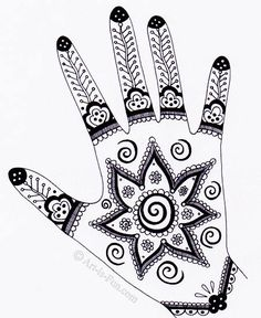 Henna Hand Designs Art Lesson: Make a Unique Self-Portrait...fun drawing exercise for summer...