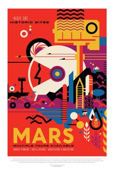 Retro Style Posters from NASA Imagine How the Future of Space Travel Will Look - BlazePress