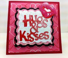 Hugs & kisses Cricut card