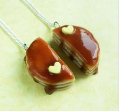 Pancake best friend necklaces