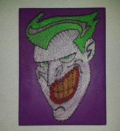Joker String Art #Comics #StringArt #Joker