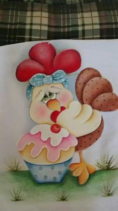 Chicken Drawing, Chicken Painting, Stone Crafts, Rock Crafts, Easy Paintings, Animal Paintings, Chicken Quilt, Chicken Crafts, Tole Painting Patterns