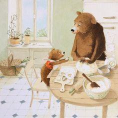 Photo Lapin Art, Bear Character, Funny Paintings, Bear Art, Children's Book Illustration, Art Plastique, Bear Cartoon, Animal Drawings, Cute Art