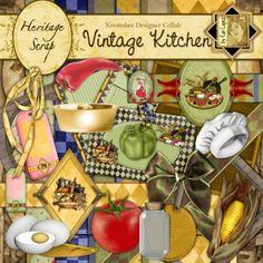 Vintage Kitchen - November Designer Collab by Cari Lopez