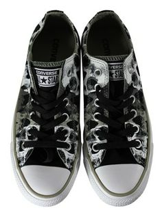 Converse Chuck Taylor All Star Skull Black & White Ox Trainers