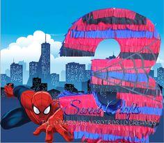 Piñata SpiderMan Num 3 #DiseñosManualesYGraficos #SweetCraftsOax #TuLoImaginasNosotrosLoCreamos