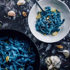 Spirulina, New Recipes, Vegan Recipes, Recipies, Butterfly Pea Flower, Food Inc, Rainbow Food, Blue Food, Homemade Pasta