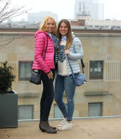 #streetstyle #jeans #blue #pink #mother #daughter #trend #fashion