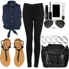 Style #3696 by vany-alvarado on Polyvore featuring moda, Topshop, Office, ASOS, Ileana Makri, Ray-Ban, NARS Cosmetics and Bobbi Brown Cosmetics