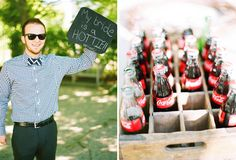 A beautiful Alabama wedding full of charm. The bride's mom helped with DIY details, and the talented Heather Hester Photography captured the whole day! Wedding Wishes, Wedding Bells, Diy Wedding, Wedding Ideas, Dream Wedding, Wedding Signage, Wedding Reception, Coca Cola Wedding, Glass Coke Bottles