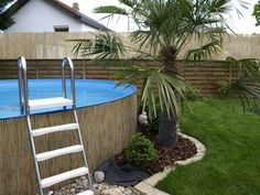 Above Ground Pool Landscaping, Privacy Landscaping, Backyard Pool Landscaping, Backyard Patio Designs, Backyard Projects, Diy Patio, Diy Swimming Pool, Pool Pool, In Ground Pools