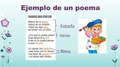EJEMPLOS de versos, rimas y estrofas - ¡¡RESUMEN CORTO!! Teaching Math, Spanish, Classroom, Kids, Spelling Quizzes, Learning, Class Room, Young Children, Boys
