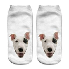Funny Dog Socks 3D Printing Low Cut Ankle Socks - Multi Colors and Styles