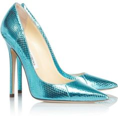 Jimmy Choo Anouk metallic watersnake pumps ❤ liked on Polyvore featuring shoes, pumps, heels, jimmy choo, jimmy choo pumps, slip on pumps, high heel pumps, metallic slip on shoes and metallic pointed toe pumps