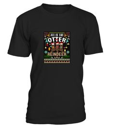 # Otter Reindeer T-Shirt Sweater .   Christmas is the best time of year! Holiday traditions like Christmas songs, decorations on the tree, watching movies, gingerbread houses, christmas games, carol, songs, jumpers, lights, wallpaper, quotes, story, background lighting, cookies, so much fun! The countdown is here and this gorgeous MERRY CHRISTMAS t-shirt is a wonderful present idea for any winter festivities! Forget the sweaters and grab a fun t-shirt for a beach vacation. This SOFT and…