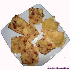 Blätterteig-Pizza-Happen unsere Blätterteig-Pizza-Happen sind geeignet für Karneval und alle Gelegenheiten mit Fingerfood