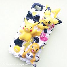 Pichu pikachu raichu evolution kawaii decoden phone case for iPhone 4/4s, 5, Samsung Galaxy S2 S3 S4, iPod touch, HTC One on Etsy, $35.00
