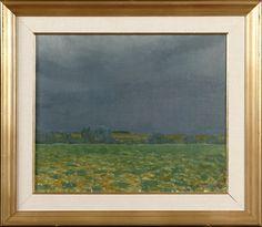 Veikko Vionoja: Maisema, 1969, öljy kankaalle, 38x46 cm - Hagelstam A124
