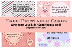 Free Printable Cards for kids (Download and Send!)