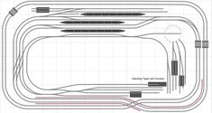 Hornby Plan 6M - FreeTrackPlans.com N Scale Model Trains, Model Train Layouts, N Scale Layouts, Model Railway Track Plans, Bubble Style, Hobby Trains, Making A Model, Train Set, Classic Toys