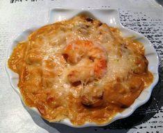 Coquilles de poisson et crevettes sauce Nantua -thermomix-