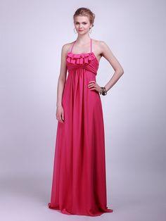 Ruffled Chiffon Bridesmaid Dress