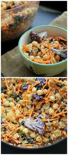Chickpea and Spinach Salad with Cumin Dressing and Yogurt Sauce ...