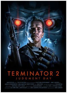 Terminator 2 Poster by Brian Taylor aka Candykiller Fiction Movies, Sci Fi Movies, Science Fiction, Fantasy Movies, Cult Movies, Indie Movies, Cinema Tv, Films Cinema, Action Movie Poster