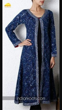 Can I cut a kameez in middle to make jacket?