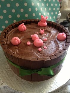 Birthday Cake for my hubby from his piglet family.